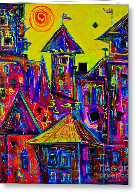 Magic Town 2 Greeting Card