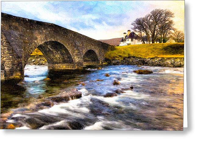 Magic Waters On The Isle Of Skye Greeting Card by Mark E Tisdale