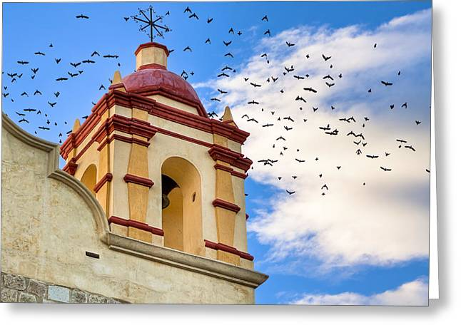 Magical Bell Tower In Mexico Greeting Card