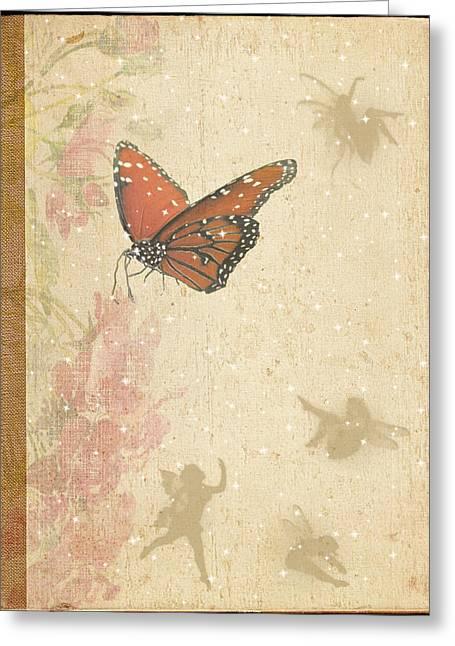 Magical Garden Greeting Card by Rosalie Scanlon