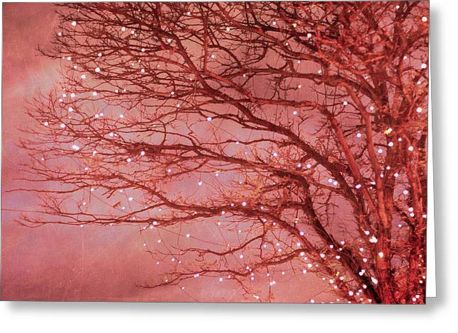 Magical In Pink Greeting Card by Violet Gray