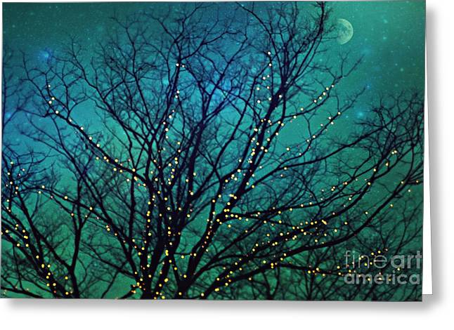 Magical Night Greeting Card by Sylvia Cook