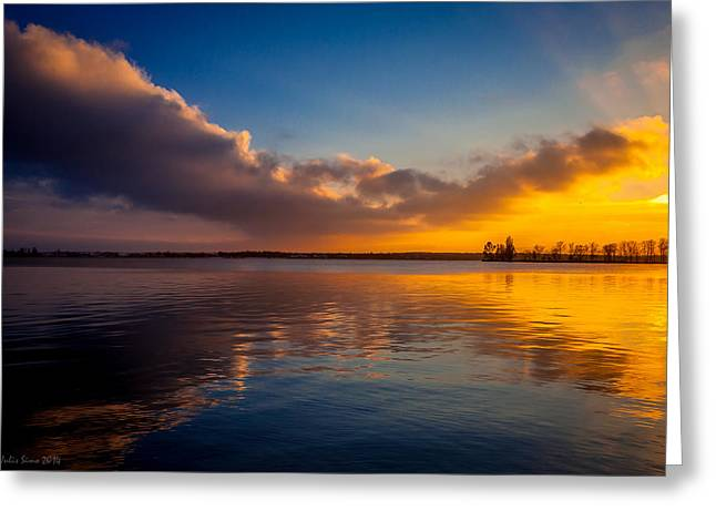 Magical Reflections Of Sundown Greeting Card