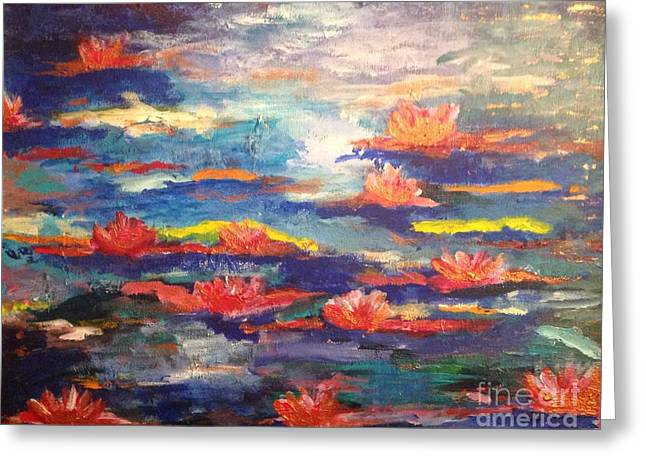 Magical Water Lilies Greeting Card