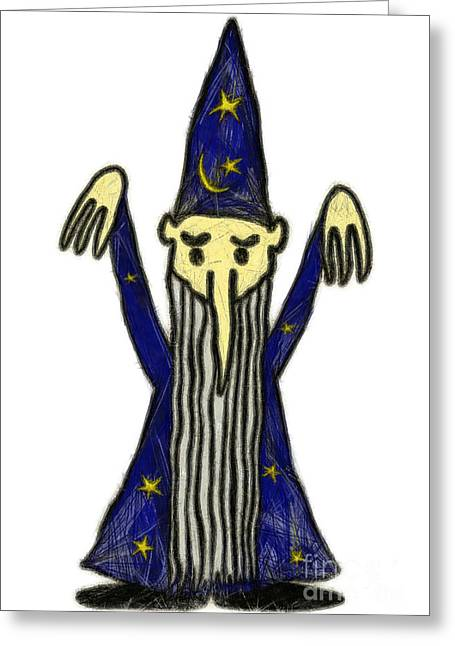 Magician Greeting Card