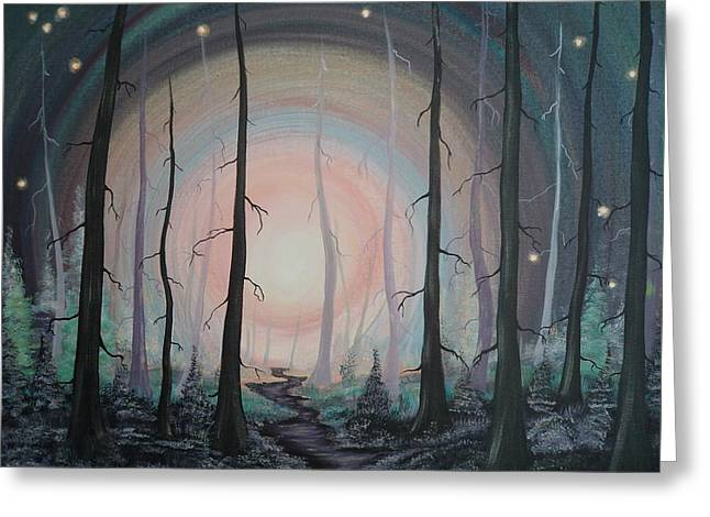 Magicle Forest Greeting Card