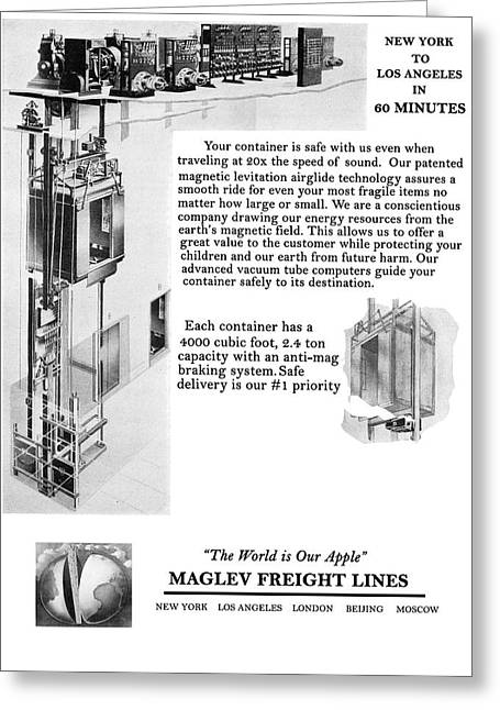 Maglev Freight Lines. Greeting Card