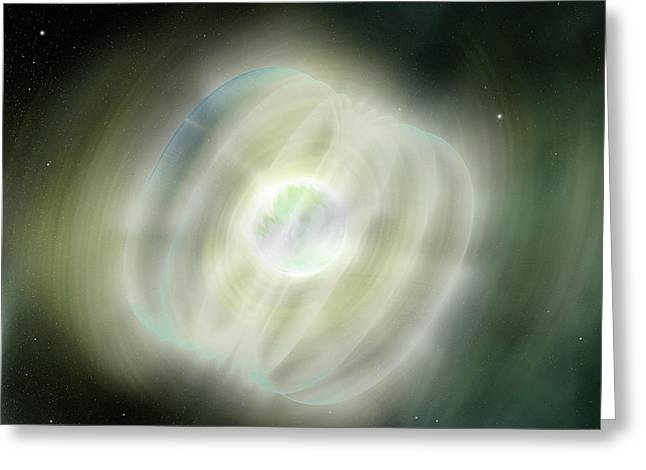 Magnetar In Space Greeting Card by Nasa/swift/sonoma State University/a. Simonnet