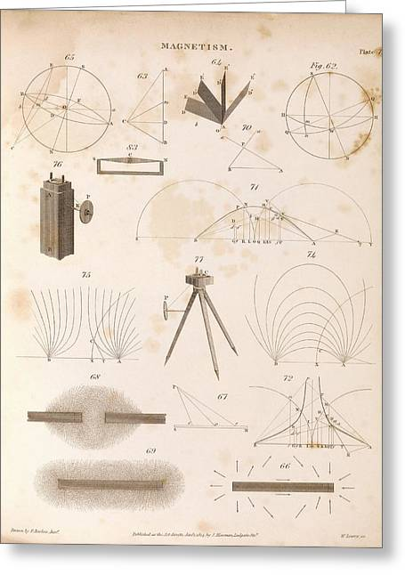 Magnetism Greeting Card by Middle Temple Library