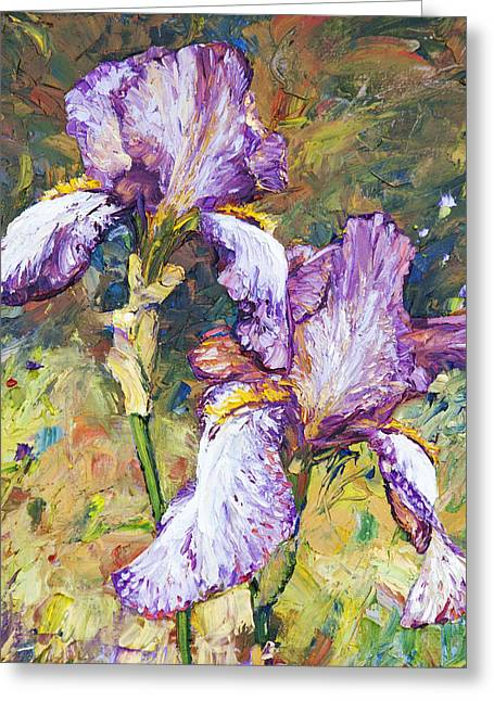 Magnificent Iris Greeting Card by Steven Boone