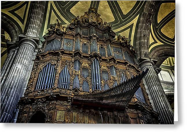 Magnificent Pipe Organ Greeting Card by Lynn Palmer