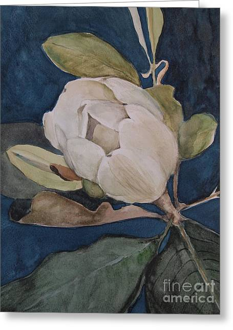 Magnolia Evening Greeting Card by Nancy Kane Chapman
