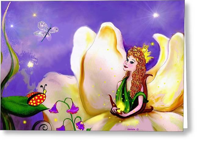 Magnolia Fairy Princess Greeting Card