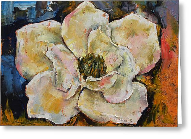 Magnolia Greeting Card by Michael Creese