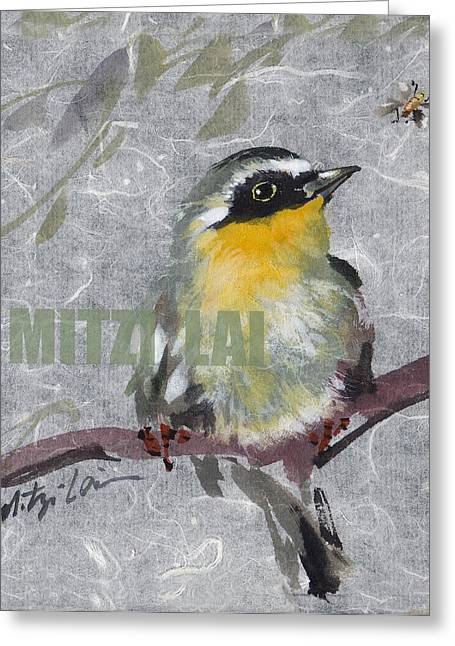Magnolia Warbler Greeting Card by Mitzi Lai
