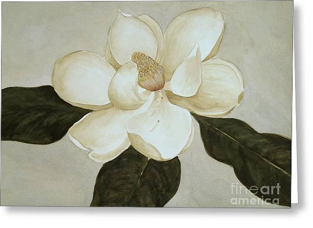 Magnolia Wave Greeting Card by Nancy Kane Chapman
