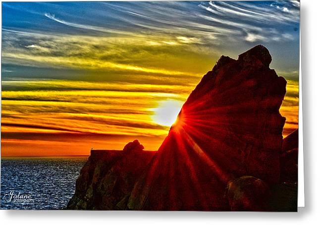 Mugu Rock Sunset Greeting Card