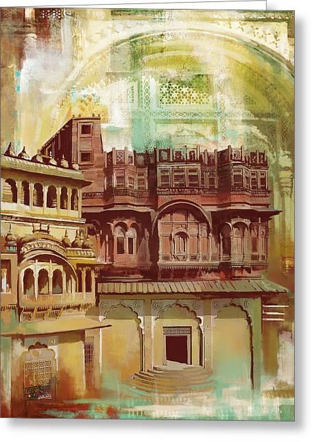 Maharangarh Fort Greeting Card