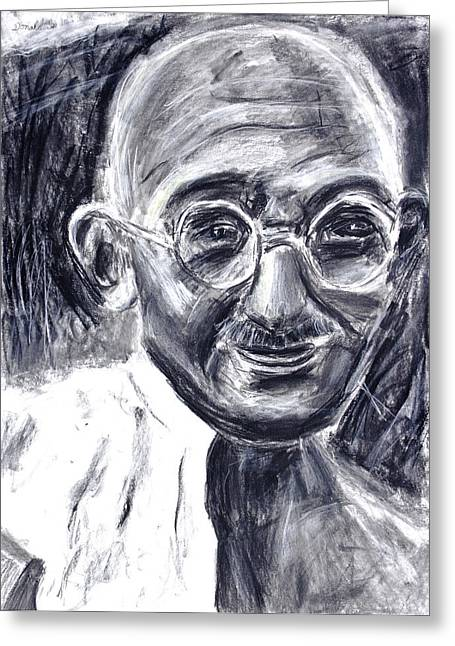 Mahatma Gandhi In Robe Greeting Card by Don Lee