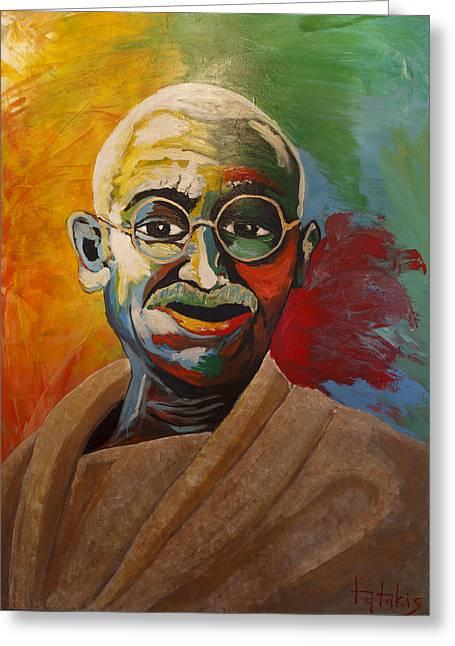 Mahatma Greeting Card by George Tatakis