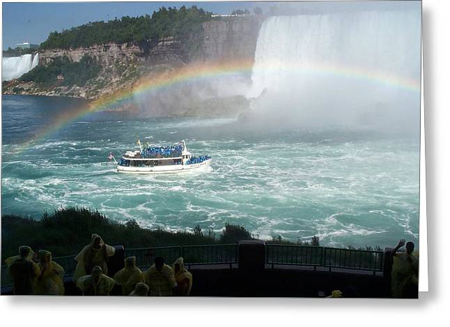 Greeting Card featuring the photograph Maid Of The Mist -41 by Barbara McDevitt