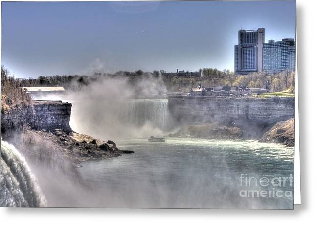 Greeting Card featuring the photograph Maid Of The Mist by Jim Lepard