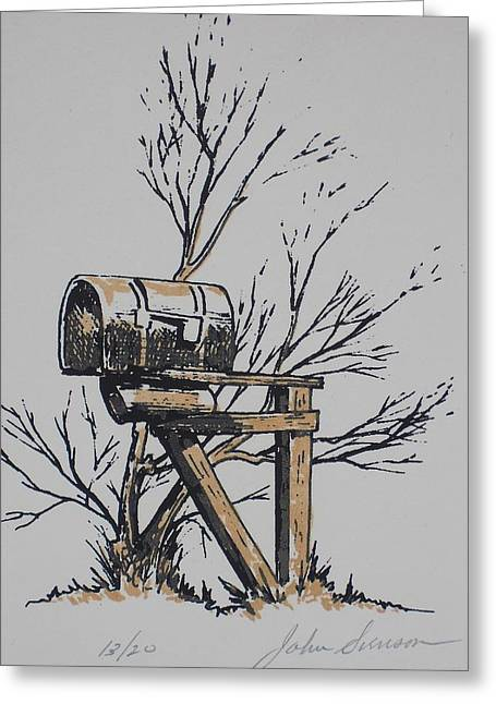 Mail Box Greeting Card by John  Svenson