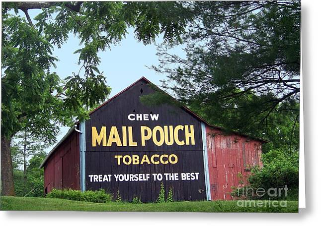 Mail Pouch Barn Framed Greeting Card