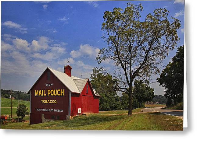 Mail Pouch Barn Greeting Card by Wendell Thompson