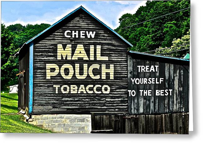 Mail Pouch Chew Greeting Card by Frozen in Time Fine Art Photography
