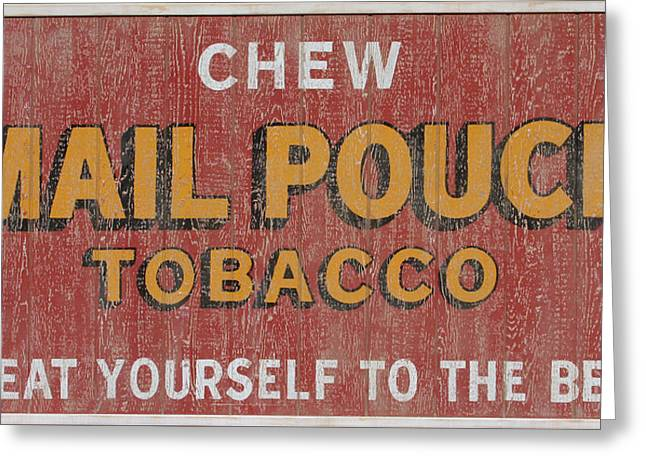 Mail Pouch Sign Greeting Card by Bill Jonas