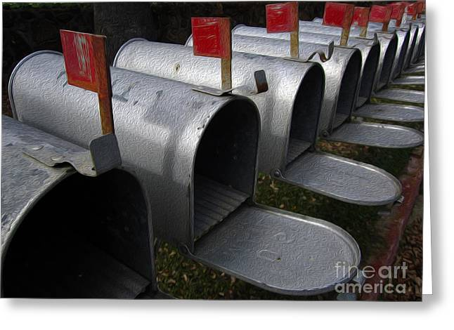 Mailboxes Greeting Card by Dan Julien