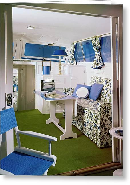 Main Cabin Of A Boat Greeting Card