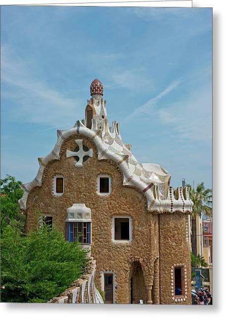 Main Gatehouse To Gaudi Park Greeting Card