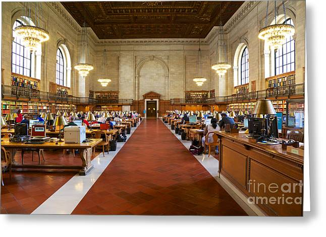 Main Reading Room Nypl Greeting Card