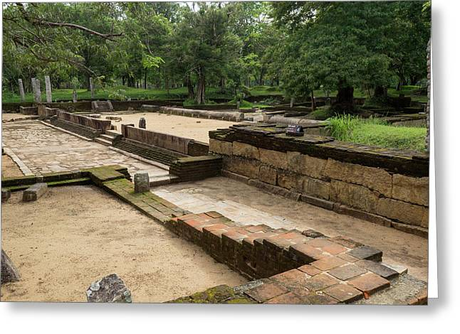 Main Refectory, 1st C. Ce, Abhayagiri Greeting Card by Panoramic Images