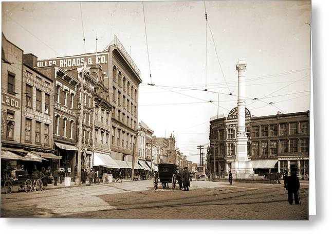 Main Street And Market Square I.e Greeting Card by Litz Collection