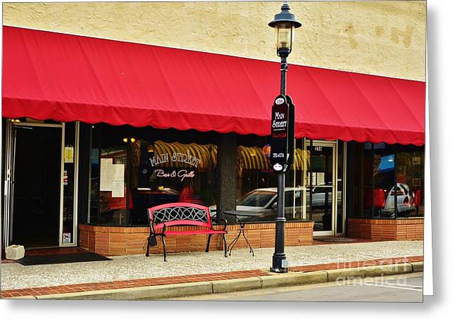 Main Street Bar And Grille In Walterboro Sc Greeting Card by Bob Sample