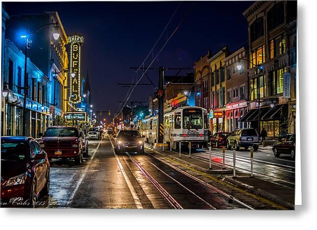 Main Street Blues Greeting Card