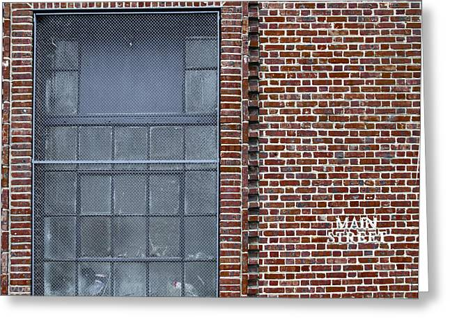 Main Street Brick Building - Manayunk Greeting Card by Bill Cannon