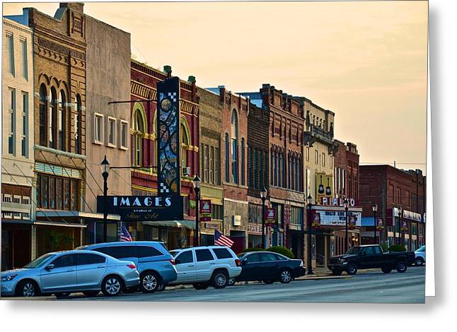 Main Street Denison Greeting Card