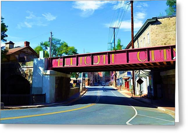 Greeting Card featuring the photograph Main Street - Ellicott City by Dana Sohr