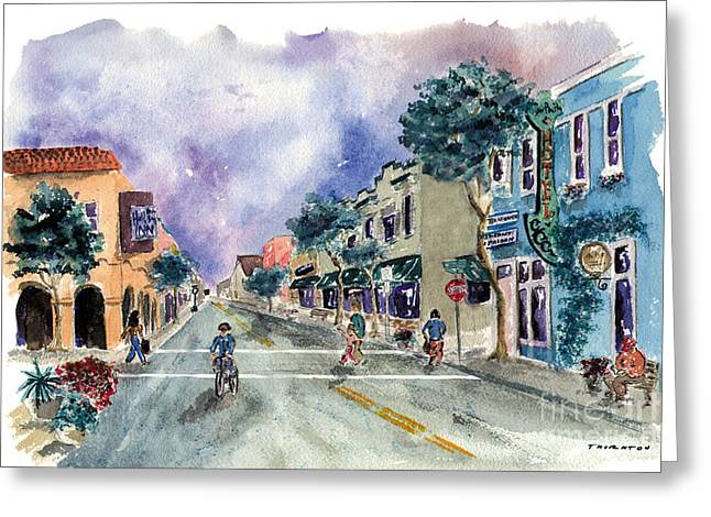 Main Street Half Moon Bay Greeting Card