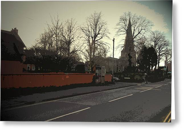 Main Street In Breaston, The Junction With Bourne Square Greeting Card by Litz Collection