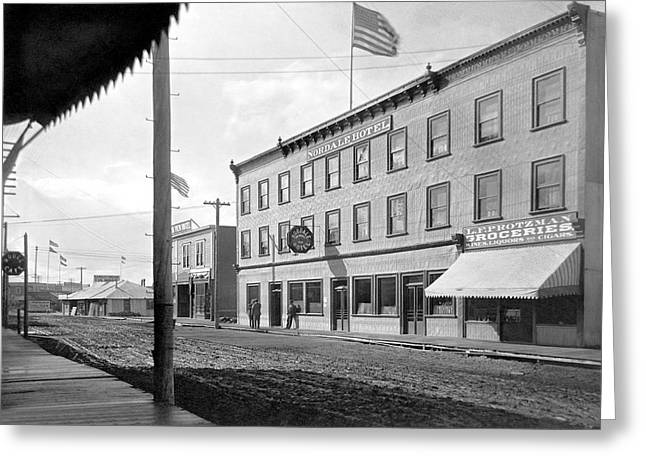 Main Street In Fairbanks Greeting Card