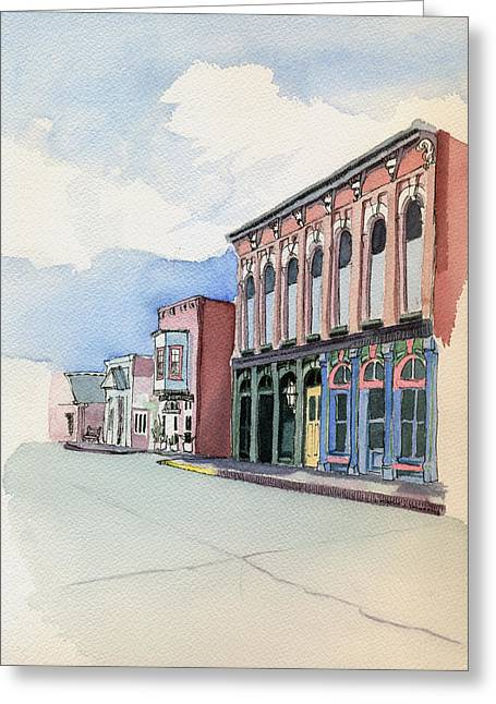 Main Street In Gosport Greeting Card