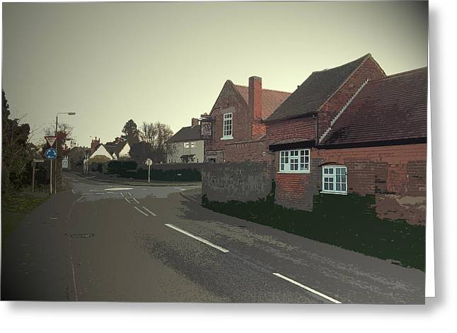 Main Street In Kings Newton,  Main Street In Kings Newton Greeting Card by Litz Collection