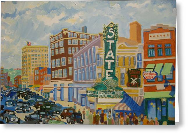 Main Street Greeting Card by Rodger Ellingson