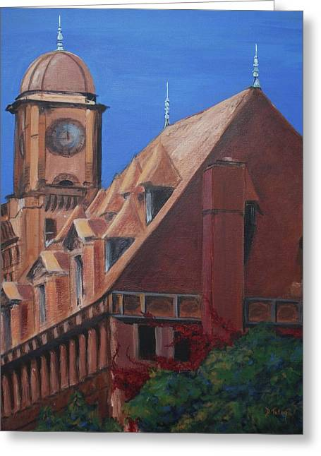 Main Street Station Greeting Card by Donna Tuten