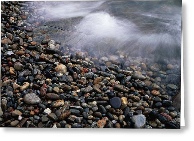 Maine, Acadia National Park, Waves Greeting Card